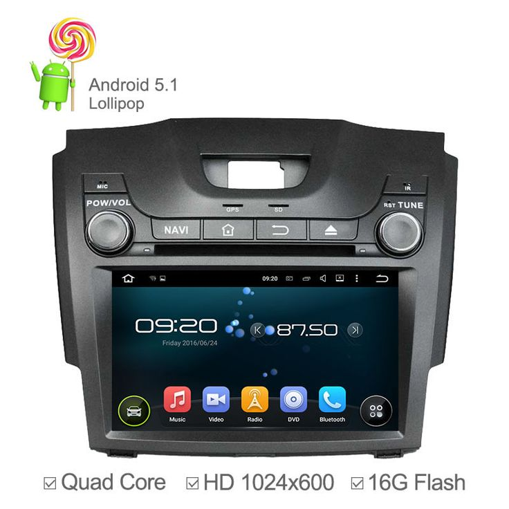 """8"""" 1024*600 Car DVD Player Android 5.1 For Chevrolet S10 Isuzu D-MAX With Quad Core Radio Bluetooth GPS USB RDS   16GB Nand"""