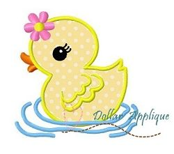 Duck Applique - 3 Sizes! | What's New | Machine Embroidery Designs | SWAKembroidery.com Dollar Applique