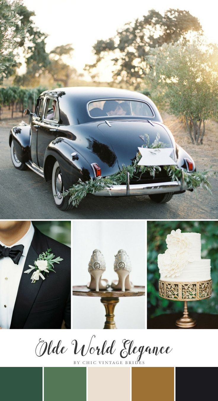 Olde World Elegance Wedding Colour Palette