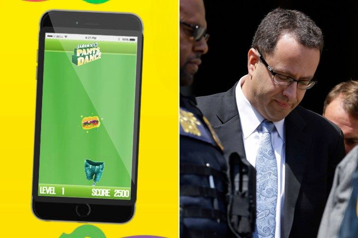 You #seriously cannot make this stuff up: http://nypost.com/2015/08/19/ill-timed-subway-game-lets-kids-play-with-jared-fogles-pants/ Subway #JaredFogle #NewYorkPost