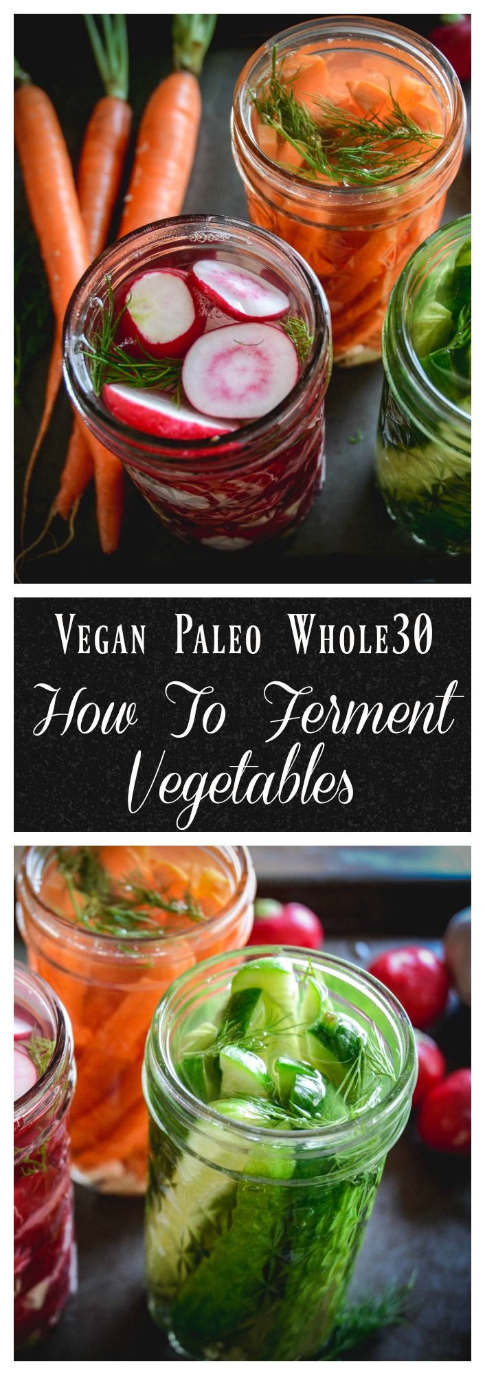 Fermented vegetables are one of the healthiest foods we can eat. They're loaded with natural probiotics and enzymes and take only 15 minutes to prepare. #fermentedvegetables, #fermentedcarrots, #pickles, #whole30, #vegan, #paleo