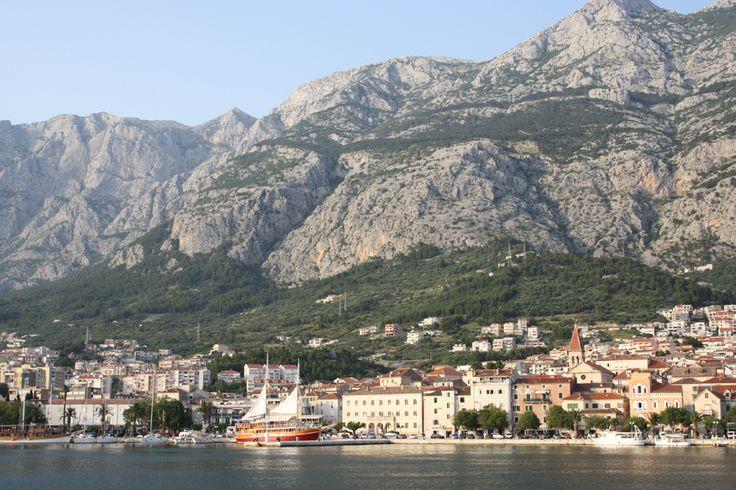Makarska is located below the mountain of Biokovo (1762 m)