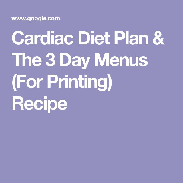 3 or 4 day heart diet