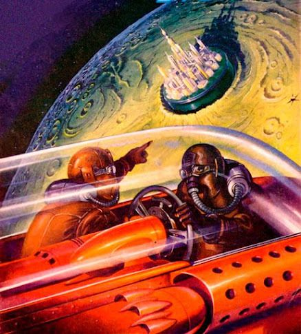 Arte retro espacial-el futuro ya llego