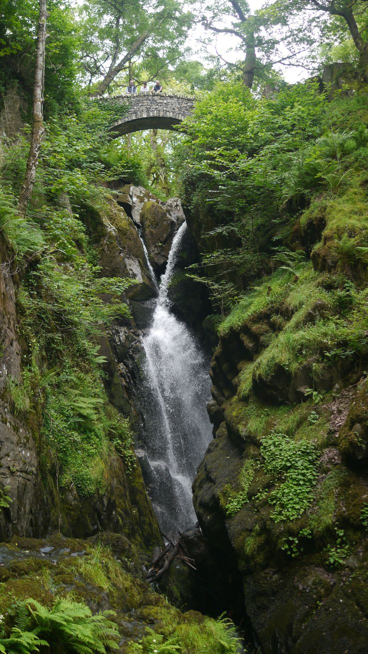 Aira Force waterfall @nationaltrust #lakedistrict #airaforce #waterfall #countryside