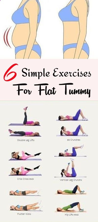 6 Simple Exercises For Flat Tummy In 3 Weeks Dream