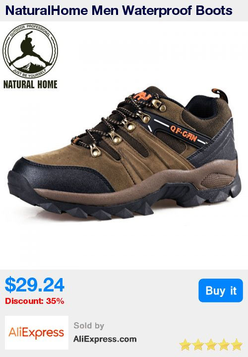 NaturalHome Men Waterproof Boots Sports Hiking Shoes Outdoor Athletic Shoes Mountain Boots for Hunting Travel Shoes Boot * Pub Date: 22:04 Apr 10 2017