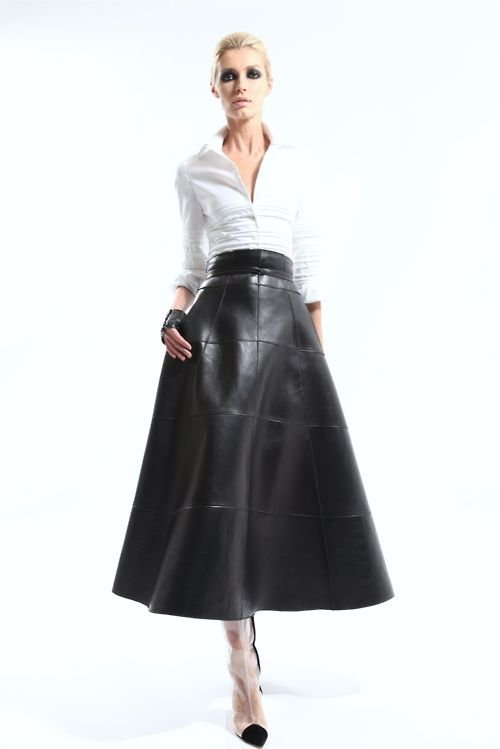 Best 25  Long Leather Skirt ideas on Pinterest | Elegant style ...