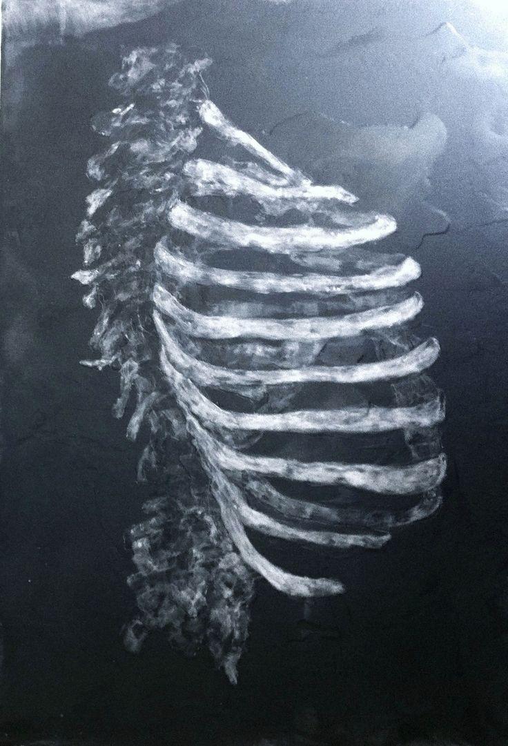 nos corps machine, paraffine sur panneau bois fond noir réalisé par Isabelle Bonté-Hessed2