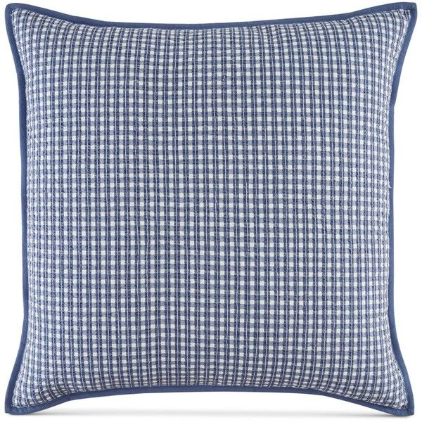Tommy Hilfiger Pilgrim Heights European Sham (155 AUD) ❤ liked on Polyvore featuring home, bed & bath, bedding, bed accessories, cotton bedding, cotton euro sham, tommy hilfiger, cotton bed linen and contemporary bedding