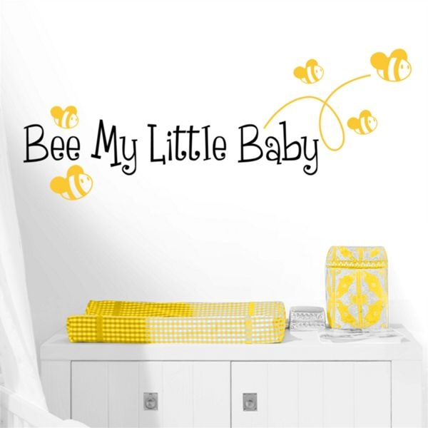 Add a cute and adorable quote wall decal to your nursery from Dali Decals. The Bee My Little Baby wall decal is fun and playful.  sc 1 st  Pinterest & 15 best New Wall Decal Designs images on Pinterest | Wall decal ...