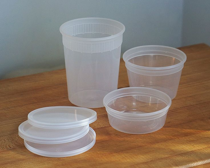 Clear Plastic Containers (set of 5)- Cassandra's kitchen (Ina Garten's favorite)