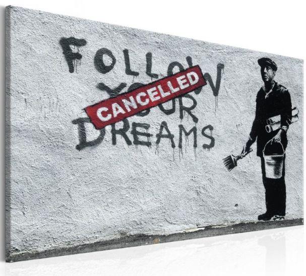 usa la #streetart di #banksy per riempire le pareti vuote della #casa  https://www.quadriperarredare.it/catalogo/quadri/arte-urbana/  decora la casa