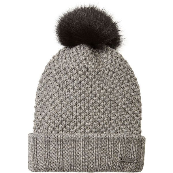 Burberry Shoes & Accessories Wool-Cashmere Hat ($305) ❤ liked on Polyvore featuring accessories, hats, beanie, grey, wool hat, cashmere hat, wool beanie hat, grey beanie hat and cold weather hats