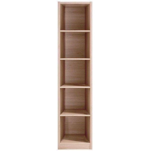 Metro Tall Half-Width Extra Deep Bookcase (2.220 RUB)  liked on Polyvore.  Deep BookcaseNarrow BookshelfBookcase StorageBook ...
