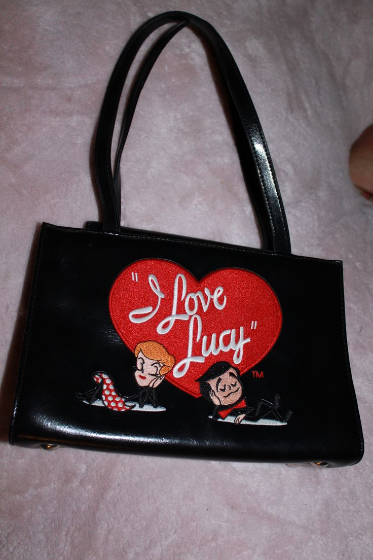 I Love Lucy Black Purse | I Love Lucy Collectibles | I ...
