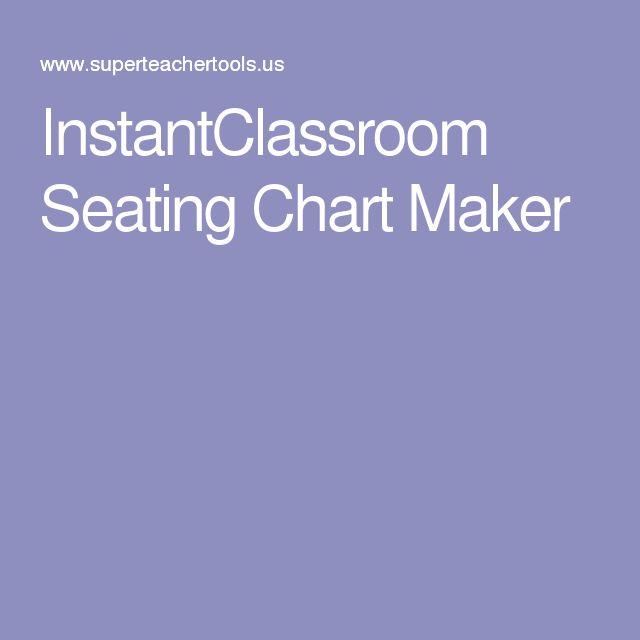 InstantClassroom Seating Chart Maker
