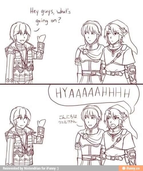 HIYAAAAAH! I always wondered what Marth said. This is one of the reasons why I wanna learn Japanese