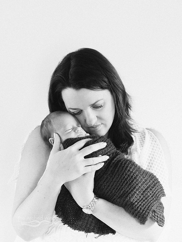 mother and son newborn photography shoot.
