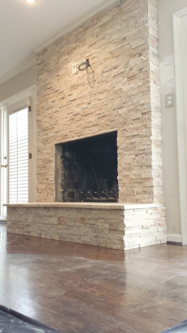 Superb Install Stacked Stone Fireplace Stacked Stone Fireplace