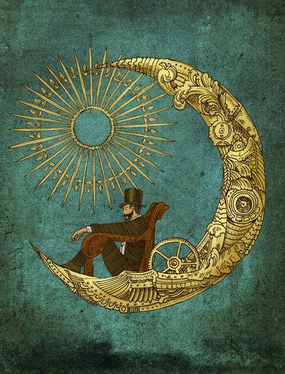 Moon Travel Art Print