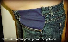 Resultado de imagen para como agrandar un jean para embarazadas