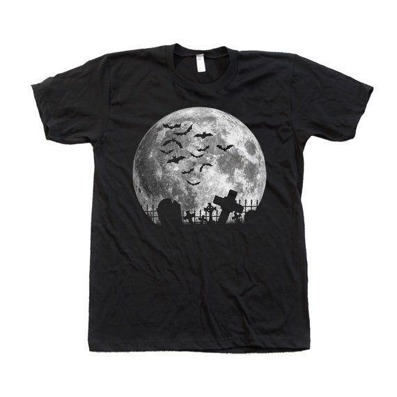 Moon Halloween t-shirt Custom Hand Screen Printed by Couthclothing