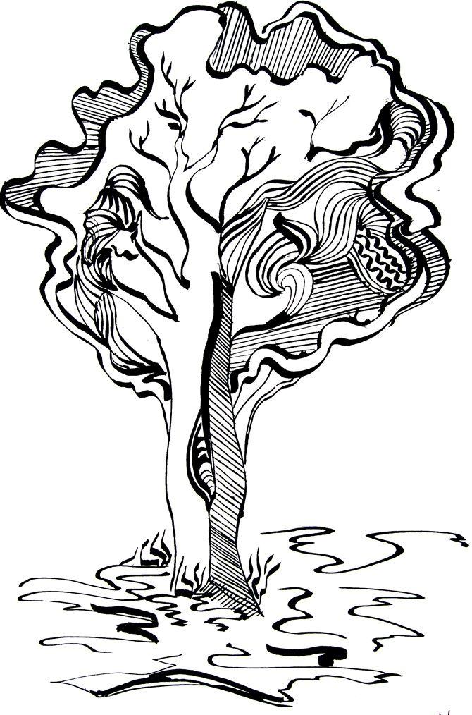 Картинки стилизация деревьев