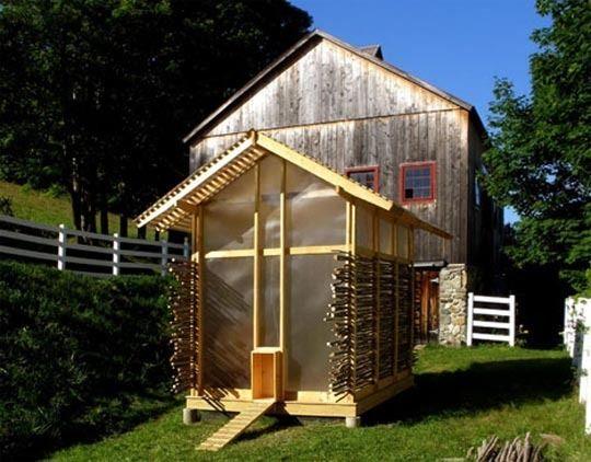 Translucent chicken coop