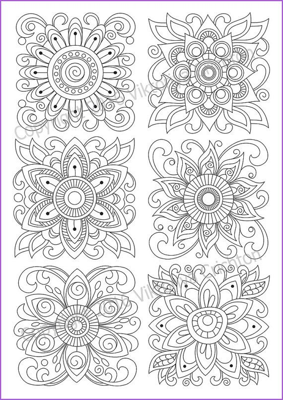 Coloring Page Zentangle Flowers Printable For Adults Pdf