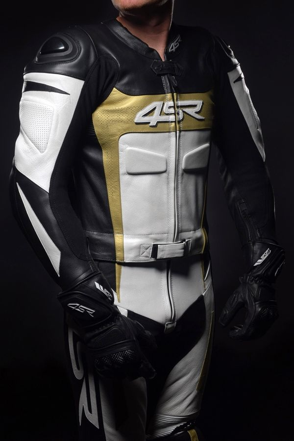 4SR - Leather suit Speed Gold