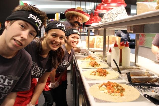 Free Burrito day at Parramatta