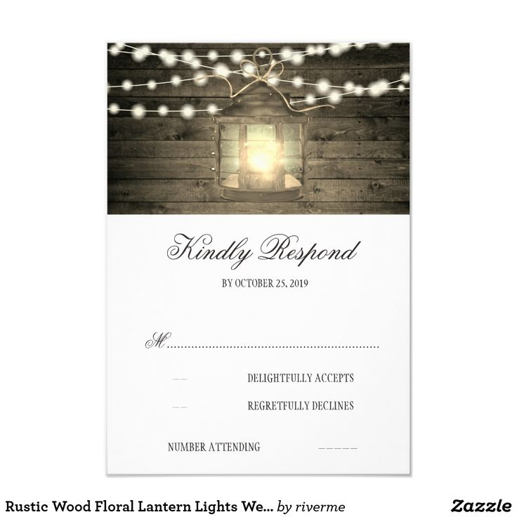 Rustic Wood Floral Lantern Lights Wedding RSVP Card Vintage metal lantern and rustic barn wood white magnolia flowers wedding reply cards for your personalization. Fun wedding invites - customize your weddings invitations. #invitations #invites #weddings