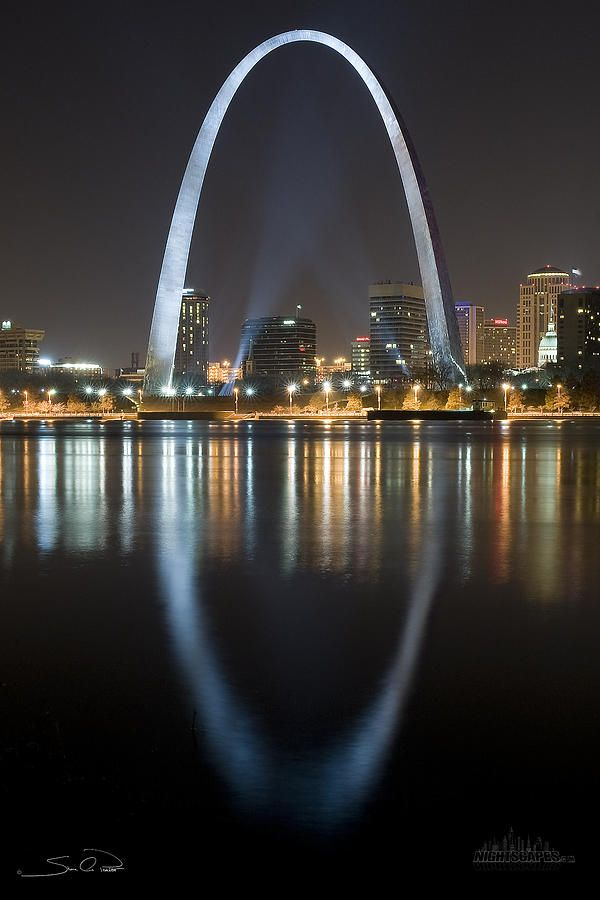 St.louis Arch Reflection Photograph by Shane Psaltis