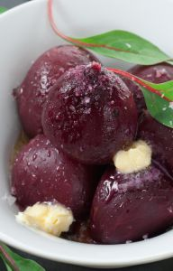 beets cooked sous vide with butter