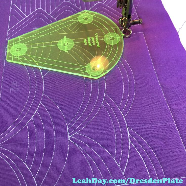 Learn the basics of machine quilting with rulers on your home machine in this Quilting Basics tutorial with Leah Day.