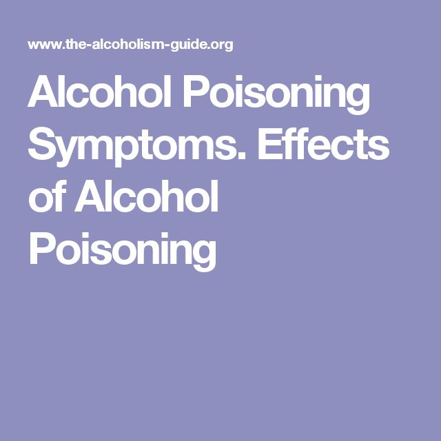 Alcohol Poisoning Symptoms. Effects of Alcohol Poisoning