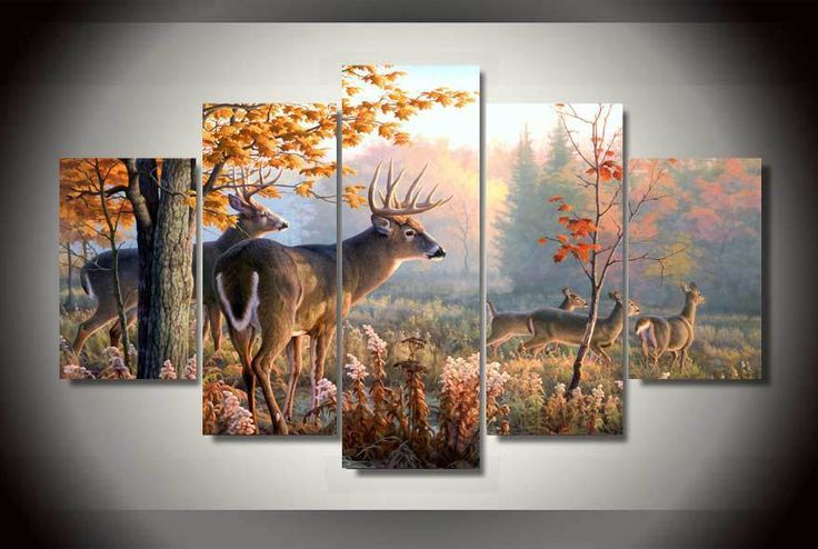HD Printed Painting of deer Painting on canvas room decoration print poster picture canvas Free shipping/bb1735 #walldecor #interiordesigner #homedecor #wallartprints #artdecor #artprint #canvasphotoprints #wallartdecor #wallpainting