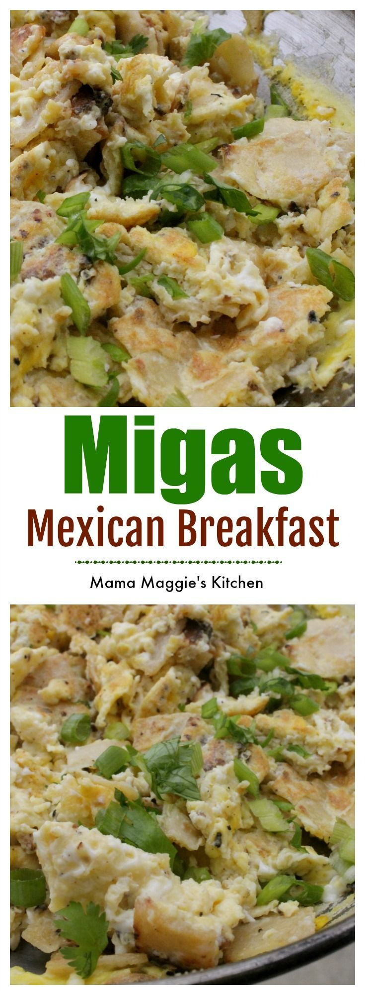 These Mexican Breakfast Migas are great for a quick and delicious Sunday brunch. by Mama Maggie's Kitchen