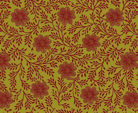 Khanga Flower </br> Bright Magenta on Lime