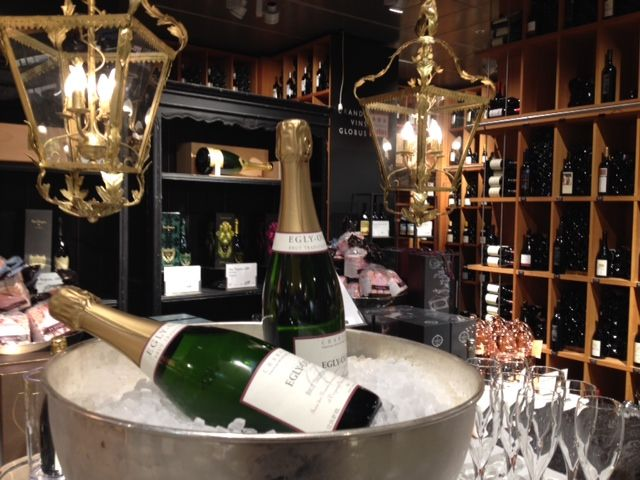 Tasting Champagne Egly-Ouriet at Globus Lausanne