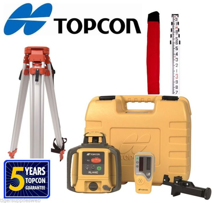 New! Topcon RLH5A Construction Laser Level DB Kit W