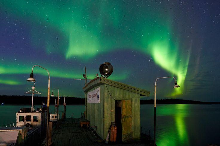 Aurora at the White sea
