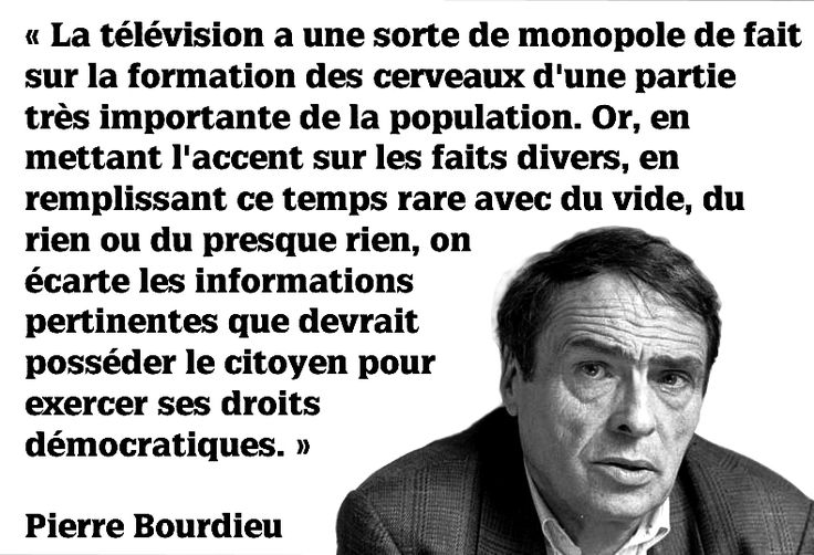 #Bourdieu et la télévision
