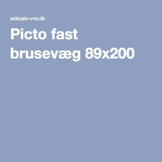 Picto fast brusevæg 89x200