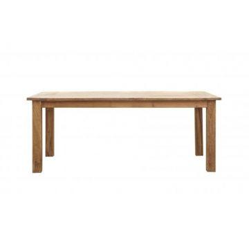 Основательный обеденный стол изготовлен на 100% из массива тика.             Метки: Деревянные столы, Кухонный стол, Обеденный стол из массива.              Материал: Дерево.              Бренд: NAF-NAF House.              Стили: Прованс и кантри, Скандинавский и минимализм.              Цвета: Коричневый.