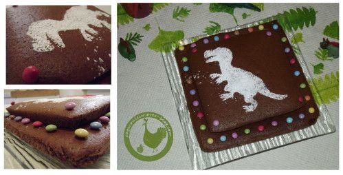 Anniversaire dinosaure : le gâteau