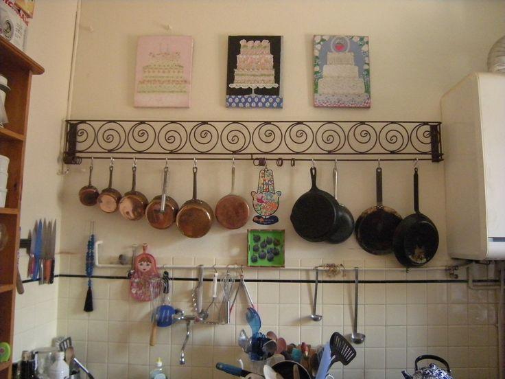 Claudia's pot rack -- Menton, France