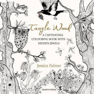My Favorite Source For Arts And Crafts Tangle Wood Coloring Book