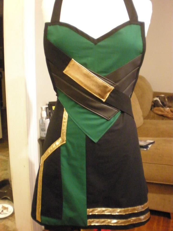 Haute Mess Threads Takes On Villains | Loki-inspired dress......love it!